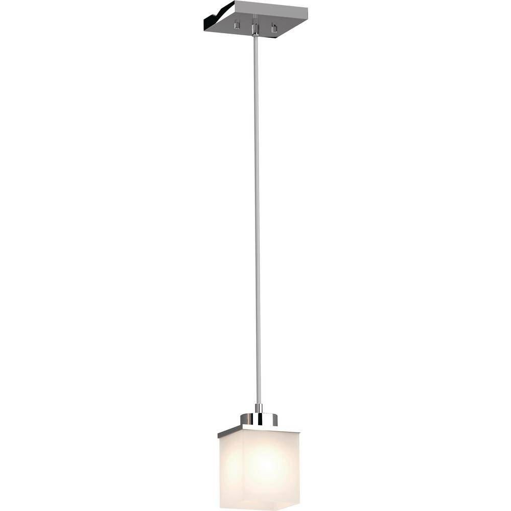 Volume Lighting Sharyn 1 Light Chrome Indoor Mini Pendant With Frosted Glass Square Rectangle Sh In 2020 Square Pendant Lighting Volume Lighting Outdoor Light Fixtures