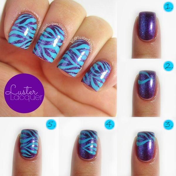 Zebra Print Nails Tutorial Nail Art Stripe