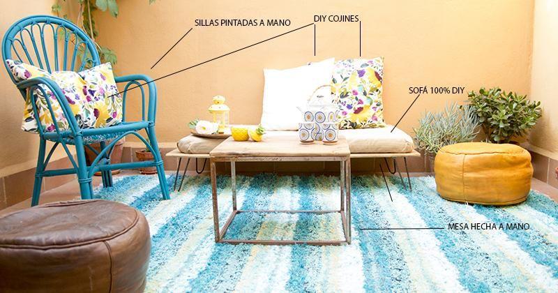Un sofá de lo más sencillo para la terraza