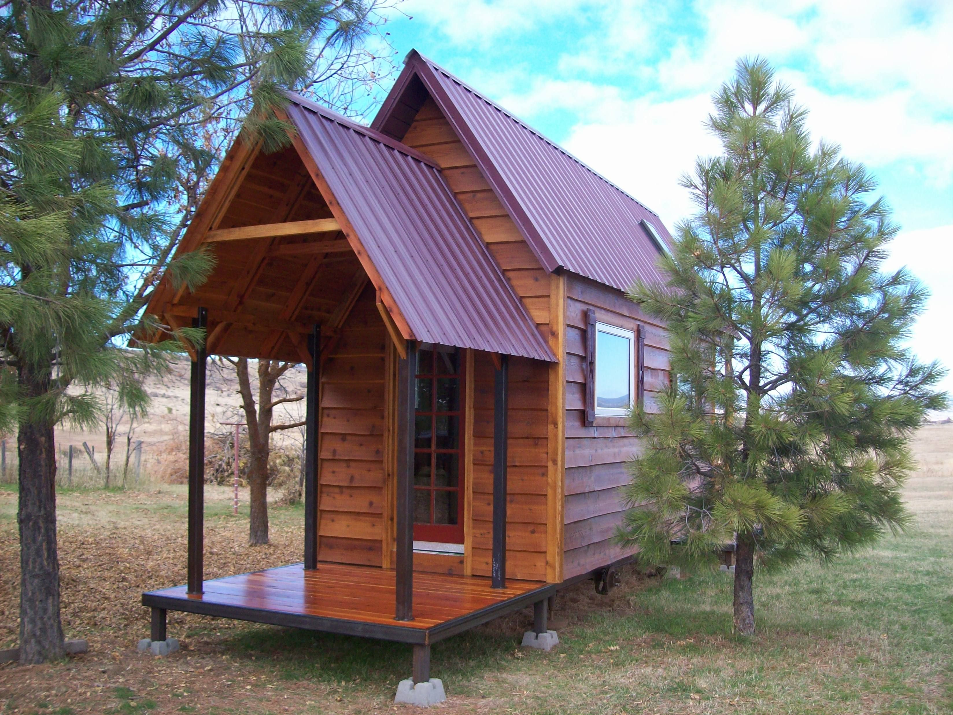 Tall Tiny House With A Porch And Loft Tiny Houses