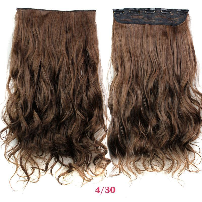Guess Fashions Women Long 24inch 60cm 5 Clip In On Curly Hair
