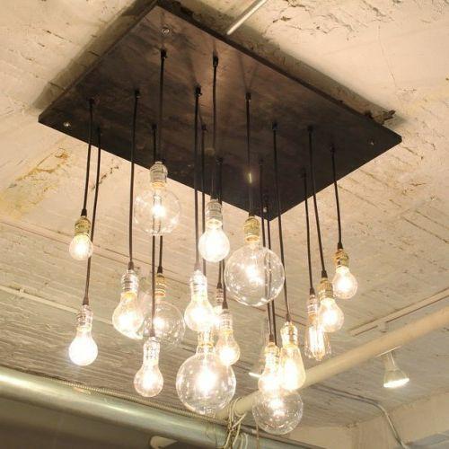 coole diy lampen aus glühbirnen basteln - schön und funktional ... - Wohnzimmer Lampen Rustikal