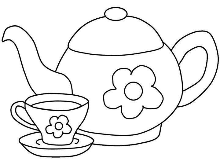 Tea Time Desenho De Bule Xicaras Desenho Paginas Para Colorir