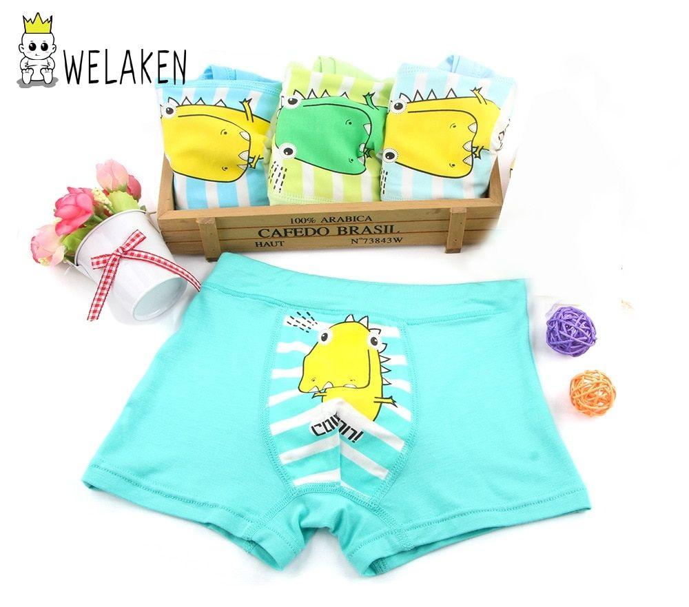 7cae0ec98024 weLaken 4 Pcs/lot Cartoon Boys Underwear Soft Breathable Kids Boxer For  2-10Yrs Baby Panties Kawaii Panty Briefs Underpants