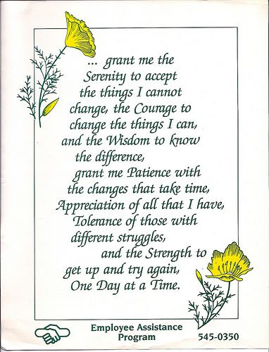 Serenity prayer, extended version: serenity, courage