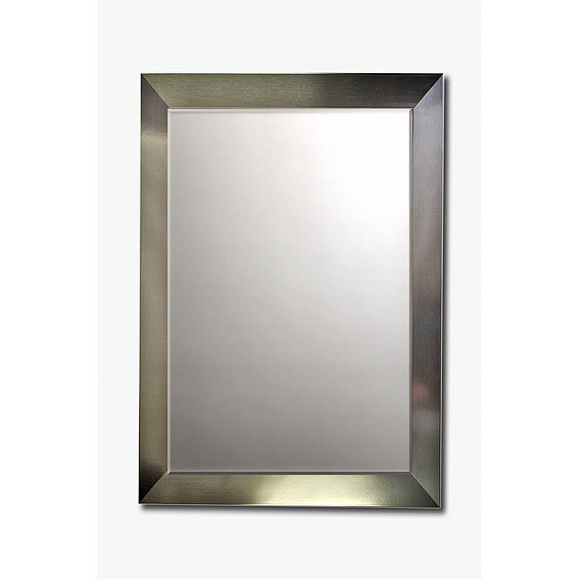 Beveled Wall Mirror stainless steel framed beveled wall mirror | steel frame