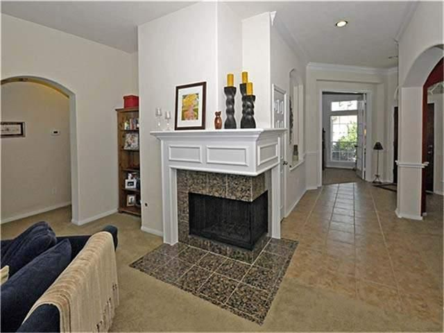 Two Sided Corner Fireplace With Mantel Fireplace And