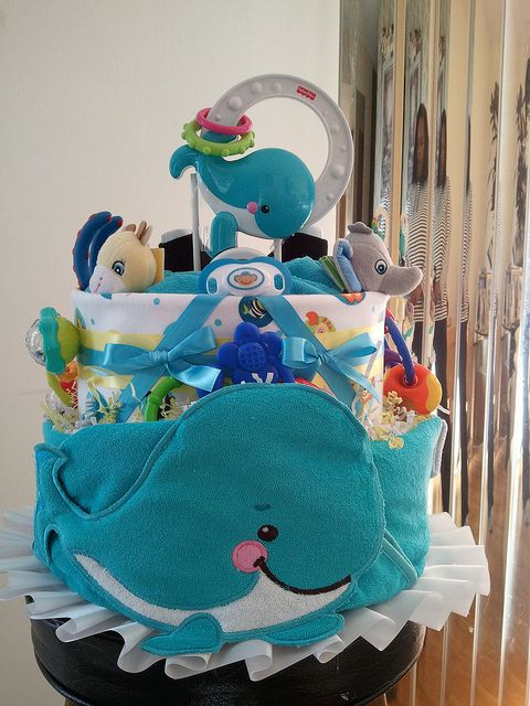 Whale Cake Precious Planet 2 Tier Ocean Baby Showers