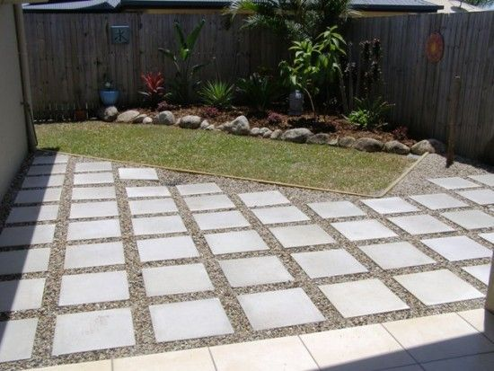 Diy extending concrete patio with pavers patio pavers Simple paving ideas