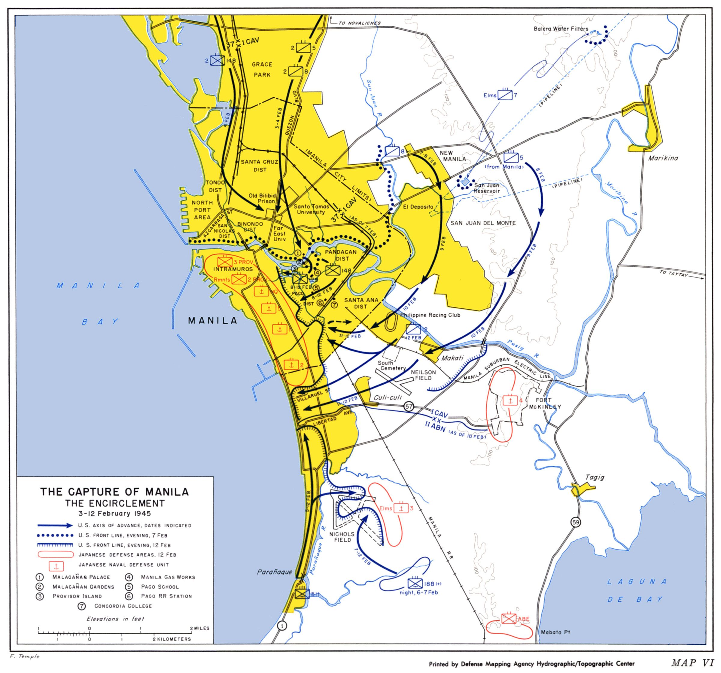 Philippines world war 2 capture of manila maps pinterest manila 1945 capture of manila us army center of military history gumiabroncs Gallery