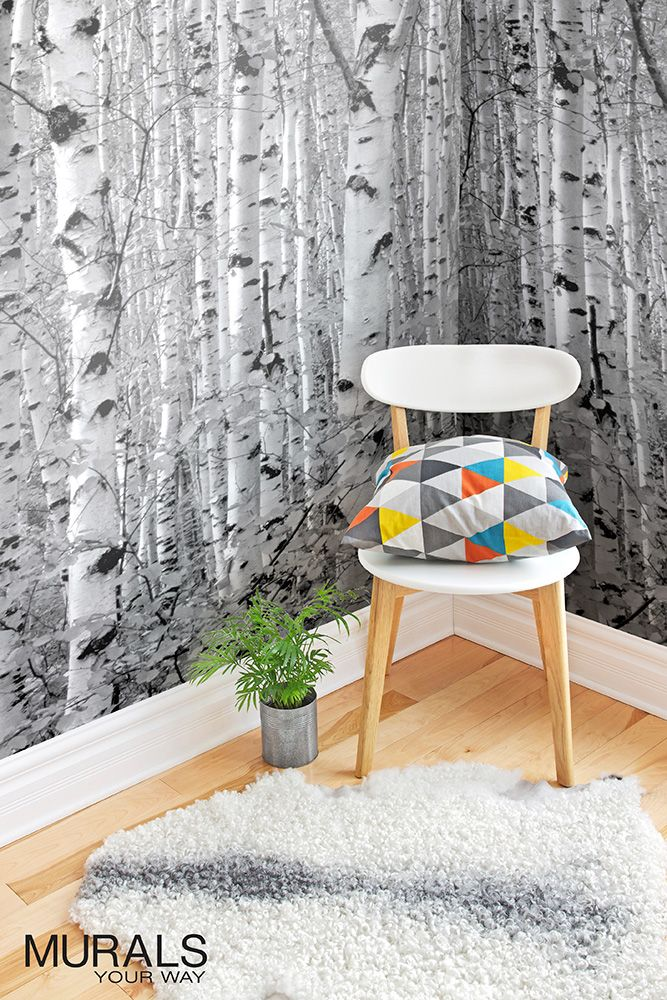 Sea of Trees Forest Mural Wallpaper in 2020 Forest mural