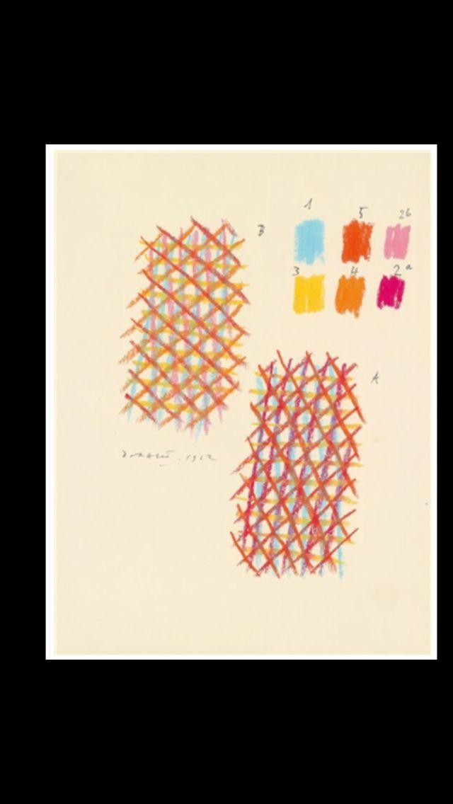 """Piero Dorazio - """" Sans titre """", 1962 - Pastel sur papier - 31,7 x 23,9 cm"""
