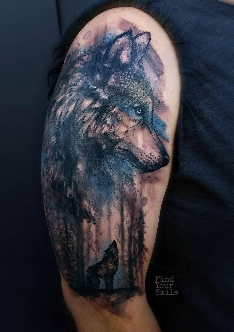 Wolf Tattoos Wolf Tattoos Wolf Tattoo Shoulder Watercolor Wolf Tattoo