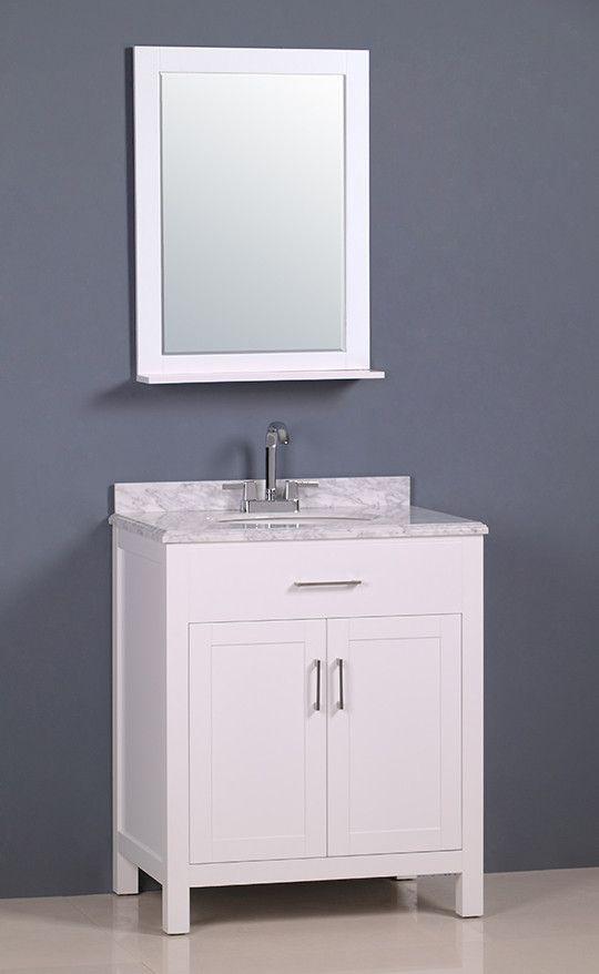 White Transitional Bathroom