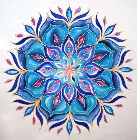 Selyemfestes Selyem Mandala Com Imagens Design De Mandala