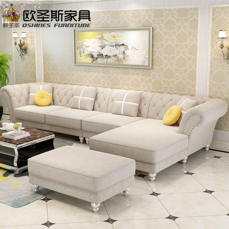 Luxe L Vormige Sectionele Woonkamer Furniutre Antieke Europa Ontwerp Klassieke Hoek Houten Carving Stof Sofa Sets W38f Living Room Sofa Design