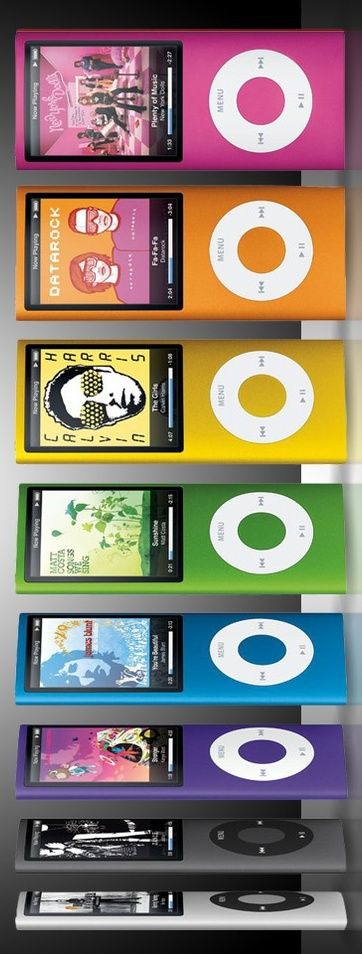 Apple iPod Nano 4th Generation - colours can be picked to suit a user