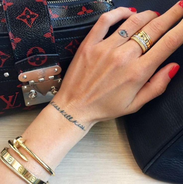 Chiara Ferragni's wrist tattoo ... ... - Kaley Huge