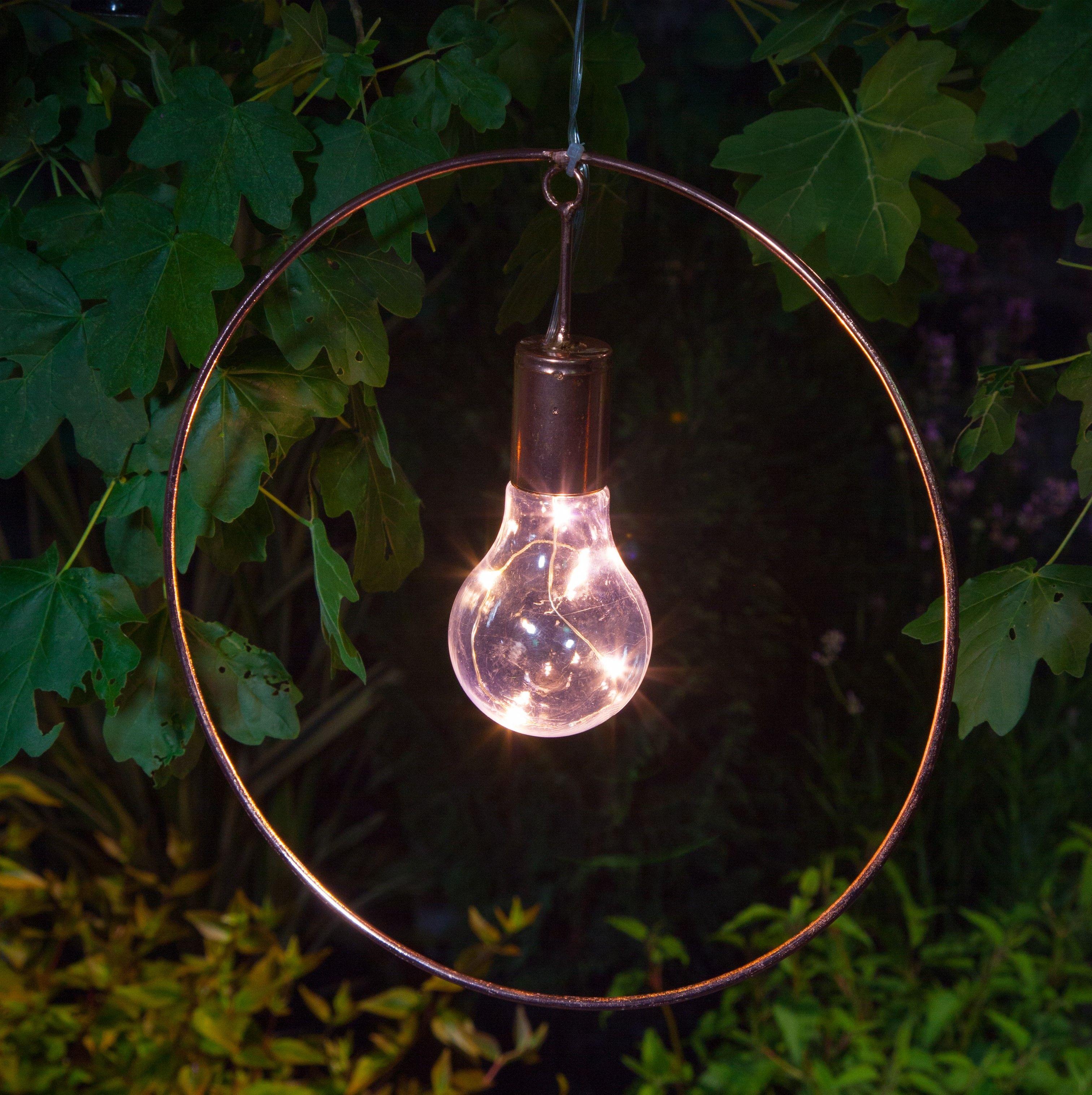 NOMA Garden Art Solar Circle Hanging Light noma.co.uk
