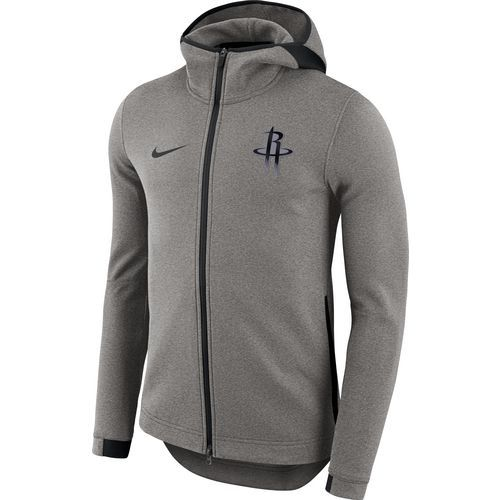 premium selection 95998 6722f Nike Mens Houston Rockets Showtime Full Zip Hooded Jacket (Grey Dark, Size  Large) - Pro Licensed Product, Nba Outerwear AdultYouth at Academy Sports