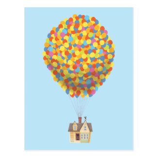 Disney Pixar UP | Balloon House Pastel Postcard | Zazzle.com
