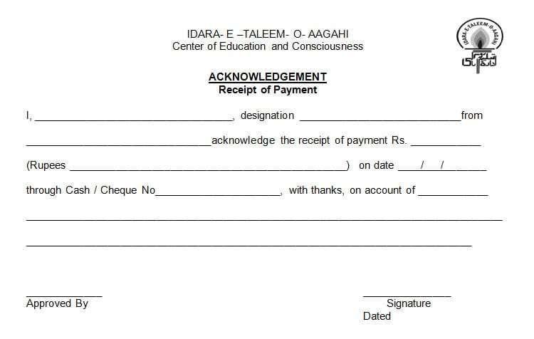 Receipt Of Payment Template 8 Receipt Template Free Receipt Template Invoice Template Word