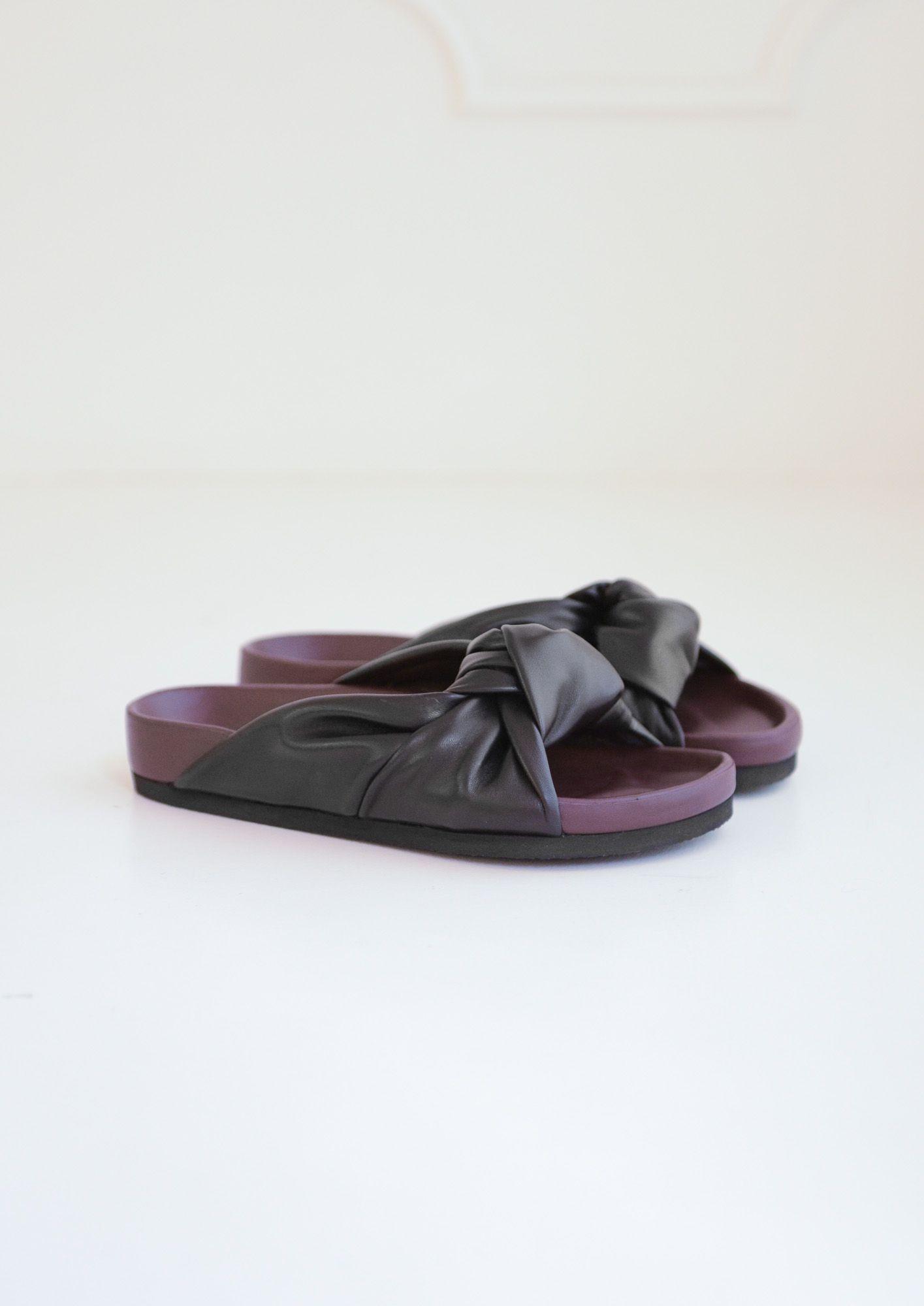 b2f15b64864 Celine leather knot sandals