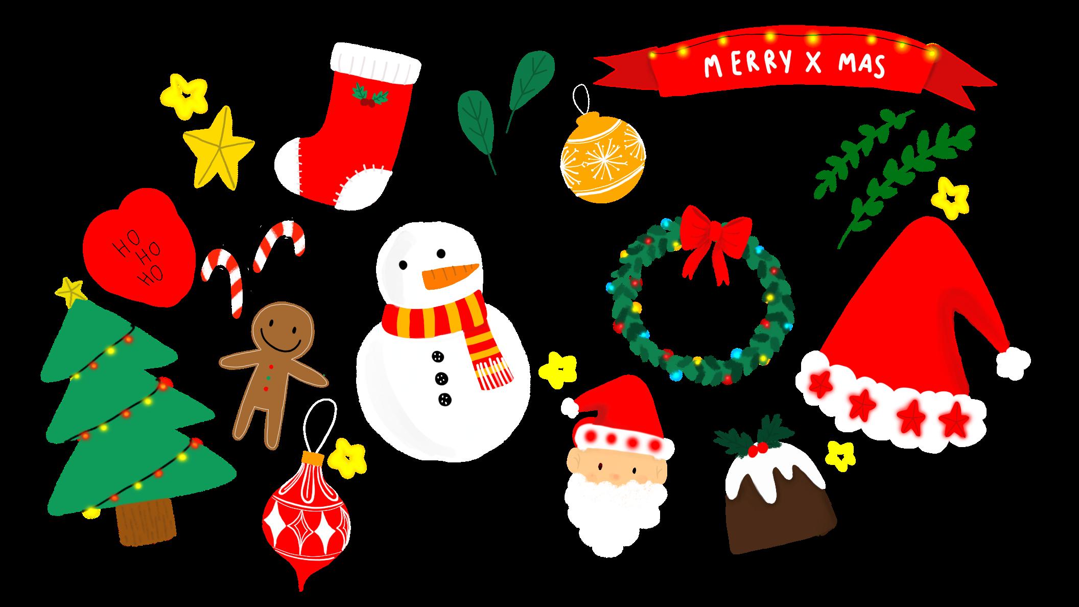 Merry x mas cutest stickers