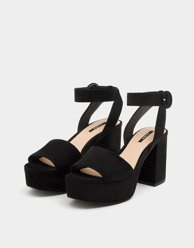 With Pull High Strap In amp;bearShoes Black 2019 Ankle Heel Sandals Y6vmgb7yIf