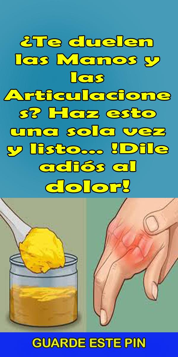 remedios caseros para el dolor de manos