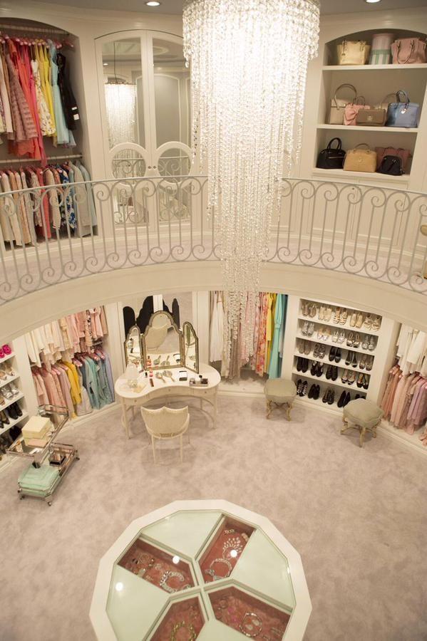 Inside the chanel's walk in closet