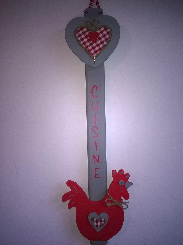 """Comment Fabriquer Un Accroche Torchon accroche torchons ou ustensiles """"poule rouge"""" : décorations"""