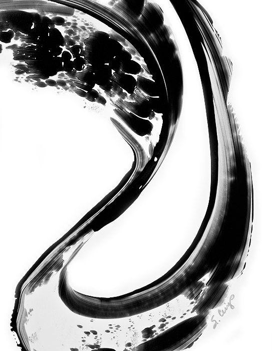 Black And White Painting BW Abstract Art Artwork High Contrast Depth Black  Magic 270 Minimalism Minimalist Modern Contemporary Sharon Cummings