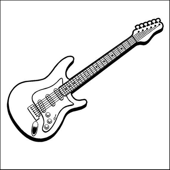 Electric Guitar Decal Removable Guitar Wall Sticker Etsy In 2020 Guitar Drawing Electric Guitar Guitar