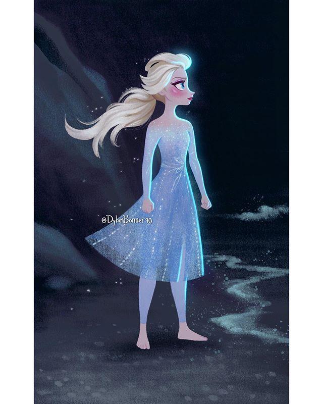 """Dylan Bonner no Instagram """"Elsa's looks in frozen2 were"""