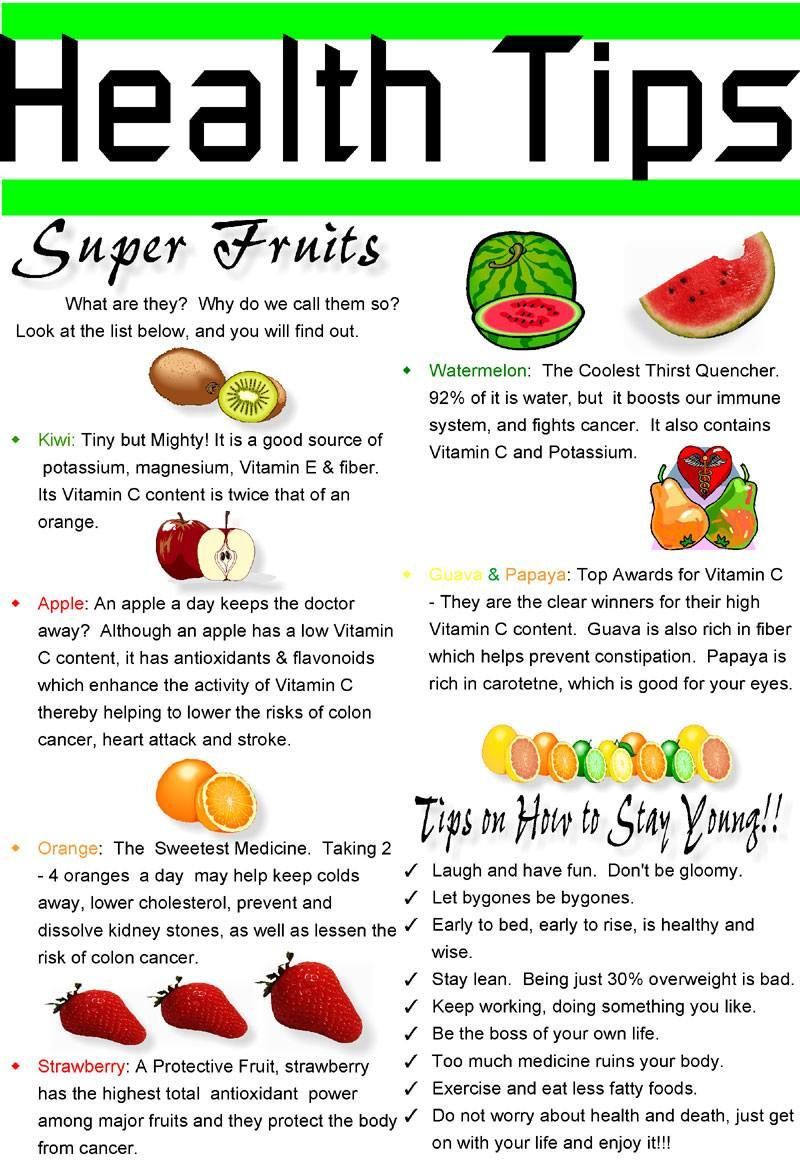 Some Super Fruits and its importance. Good health tips