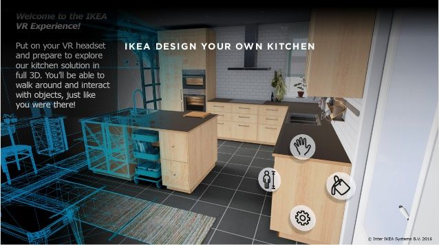 ikea design your own kitchen vr ui pinterest virtual reality apps