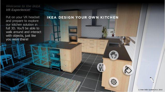 Ikea Design Your Own Kitchen Vr Ui Pinterest Virtual