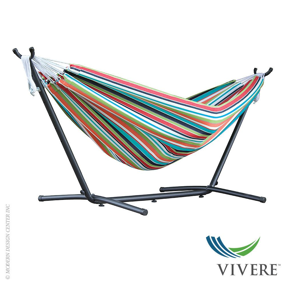 Hammock Chair Rona Vivere Double Polyester Hammock With Stand Combo Outdoor