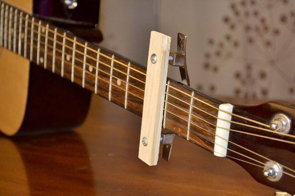 Homemade Capo Guitar With Pictures In 2019 Guitar