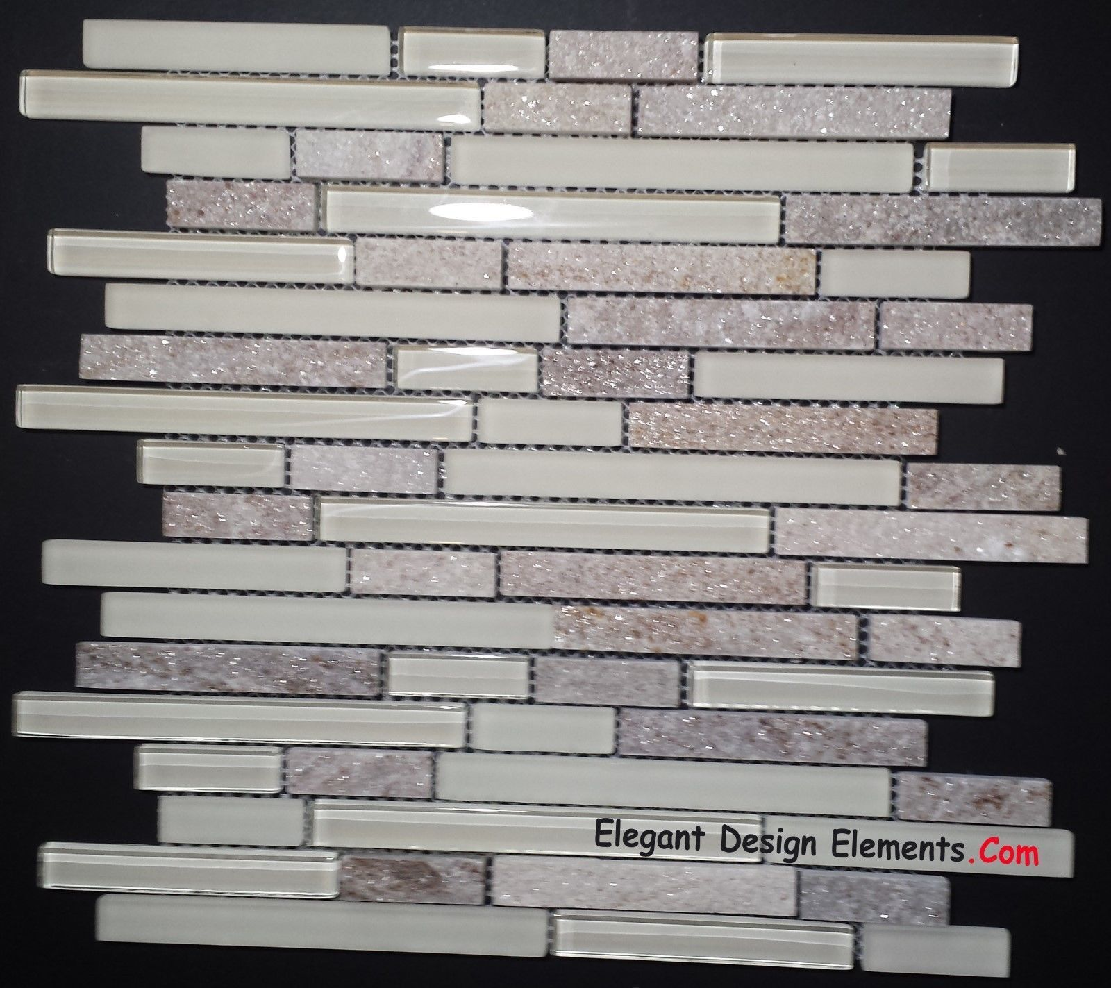 Gold Quartz Stone Mosaic White Polished Matt Glass Tile Kitchen Backsplash Z33