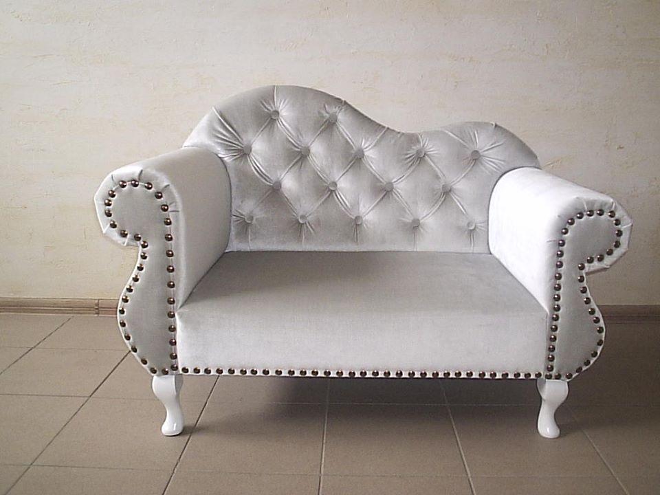 Mini Sofa Idealna Dla Dzieci Stylowe Pikowane Tapicerowane Meble