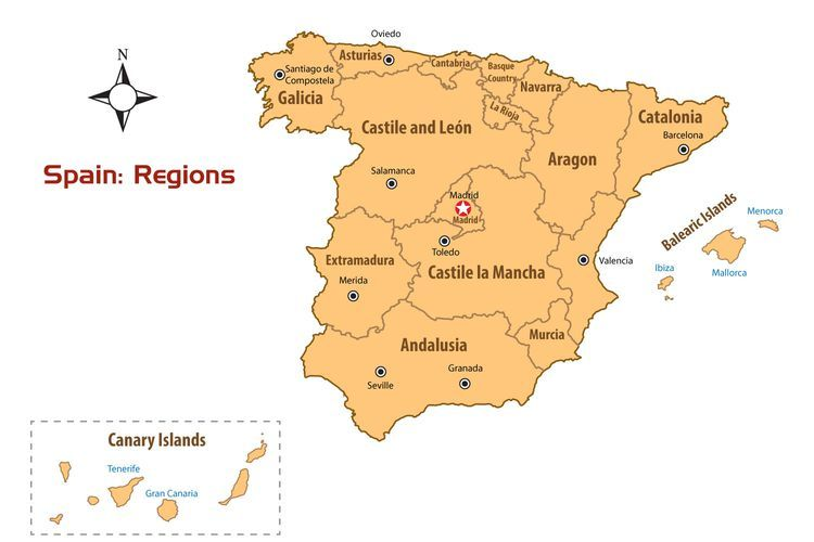 Learn all about the regions of Spain in 2018