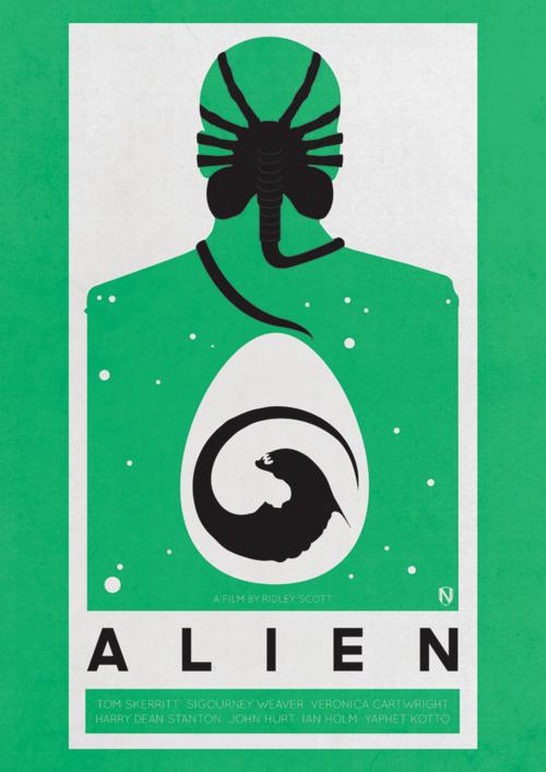 Minimalistic Alien Poster From Http Needledesign Bigcartel Com Product Alien Aliens Movie Poster Art Alien