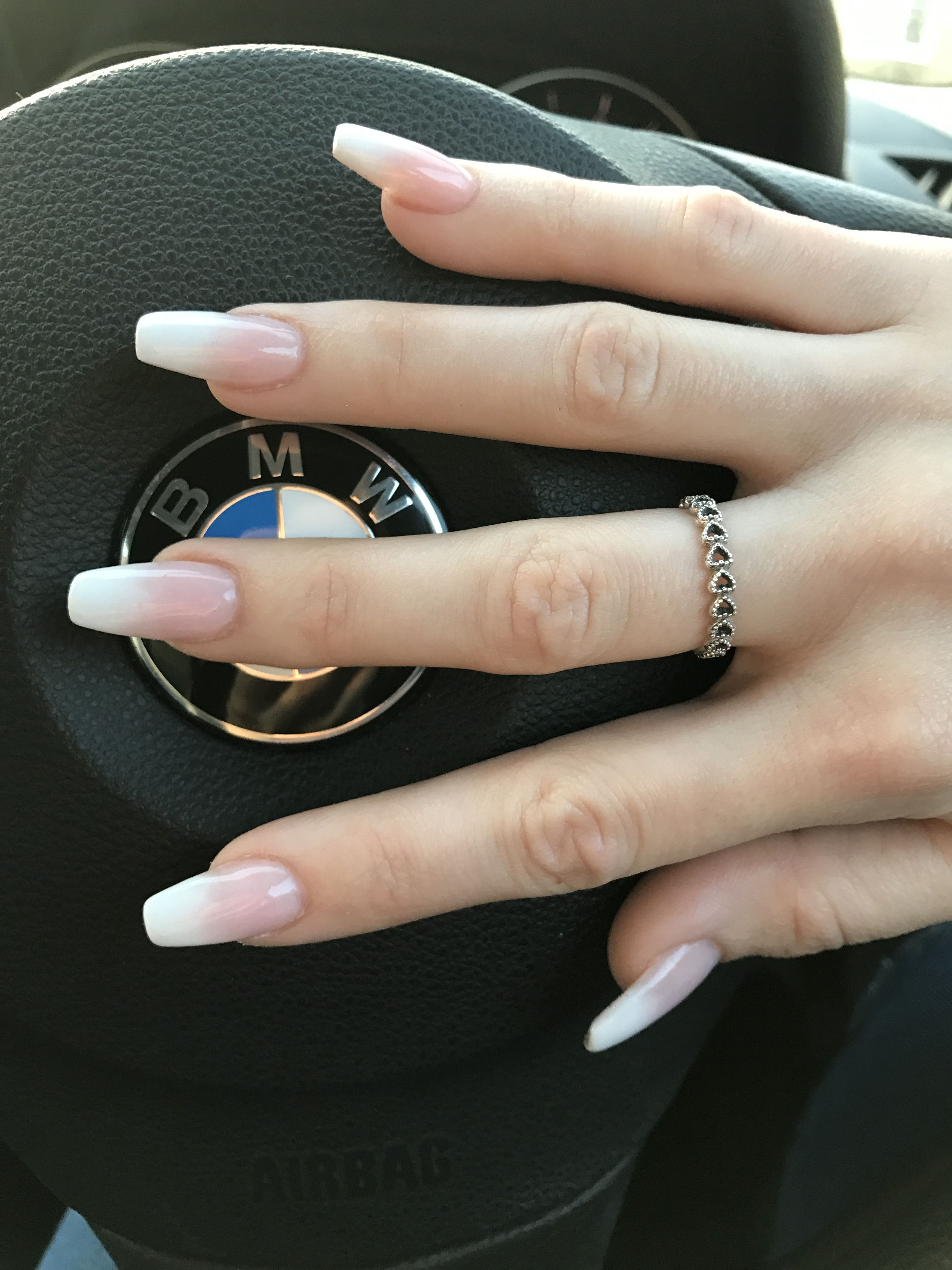 Baby boomer French ombré nails | Ombre nail designs, Ombre ...