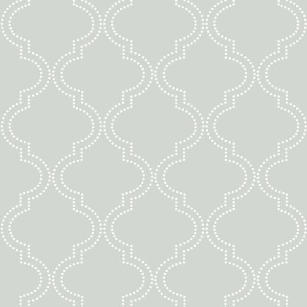 Nuwallpaper 30 75 Sq Ft Grey Quatrefoil Peel And Stick Wallpaper Nu1649 The Home Depot In 2020 Quatrefoil Wallpaper Nuwallpaper Trellis Wallpaper