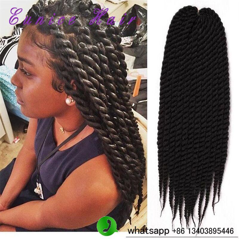 2x Havana Mambo Twist Braiding Hair Crochet Braids