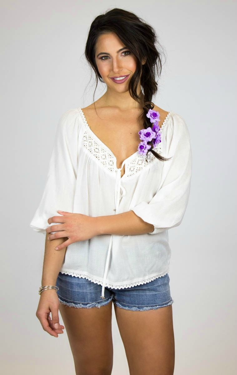 How can you go wrong with a white babydoll tee?