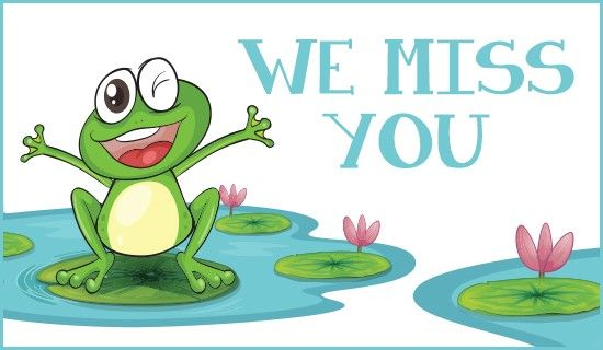 We Miss You Clipart