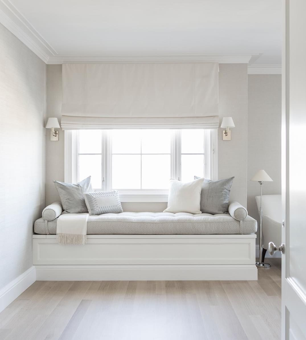 Bedroom by alyssa kapito interiors follow Window seat reading nook